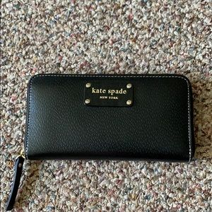 kate spade wellesley zip-around wallet